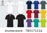 polo t shirt sport design... | Shutterstock .eps vector #785171116