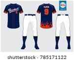 baseball jersey  sport uniform  ... | Shutterstock .eps vector #785171122