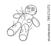 voodoo doll coloring book... | Shutterstock .eps vector #785171272