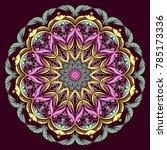 mandala vector coloring floral...   Shutterstock .eps vector #785173336