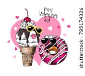 card of a valentine's day.... | Shutterstock .eps vector #785174326