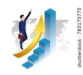 success in business  a man in a ... | Shutterstock . vector #785175775