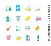 cleaning home services and... | Shutterstock . vector #785176885