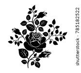 silhouette of a rose. vector... | Shutterstock .eps vector #785182522
