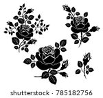 set of various silhouettes of... | Shutterstock .eps vector #785182756