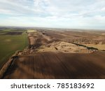 aerial photo of bio farmland | Shutterstock . vector #785183692