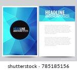 abstract vector modern flyers ... | Shutterstock .eps vector #785185156