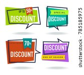 limited time sale  vector... | Shutterstock .eps vector #785185975