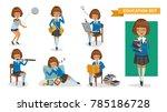 girls high school of education... | Shutterstock .eps vector #785186728