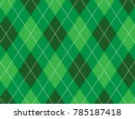 Green Argyle Background