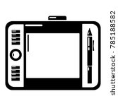graphic tablet icon. simple...