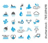 water icons vector design | Shutterstock .eps vector #785189698