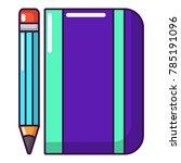 notepad pencil icon. cartoon...