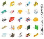 formation icons set. isometric... | Shutterstock .eps vector #785194936