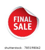 red vector sticker and text... | Shutterstock .eps vector #785198062