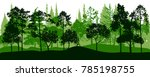 vector landscapes with pine and ...   Shutterstock .eps vector #785198755