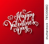 valentines day oblique... | Shutterstock .eps vector #785200882