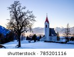 mountains near moesern in austria - stock photo