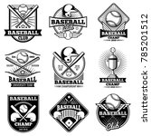 vintage baseball labels and... | Shutterstock . vector #785201512
