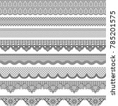 vintage border with lace... | Shutterstock . vector #785201575