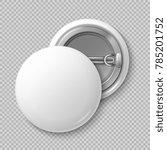 white blank badging round... | Shutterstock . vector #785201752