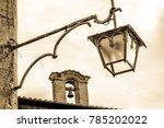 old  antique streetlamp  ... | Shutterstock . vector #785202022