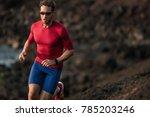 fitness runner man sport... | Shutterstock . vector #785203246