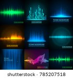 vector sound waves set. audio... | Shutterstock .eps vector #785207518