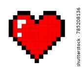 pixel art heart. love and... | Shutterstock .eps vector #785208136