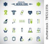 medical icons. universal vector ... | Shutterstock .eps vector #785211556
