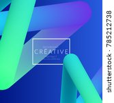 abstract 3d liquid fluid color... | Shutterstock .eps vector #785212738