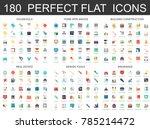 180 modern flat icons set of... | Shutterstock .eps vector #785214472