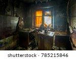 Burnt Apartment House Interior...