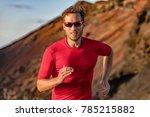 athlete runner trail running in ... | Shutterstock . vector #785215882