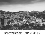 black and white favela in rio... | Shutterstock . vector #785223112