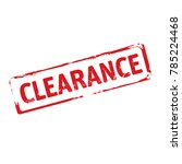 color stamp and text clearance. ... | Shutterstock .eps vector #785224468