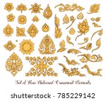 a set of elements of... | Shutterstock .eps vector #785229142