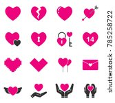 heart icon vector in black and... | Shutterstock .eps vector #785258722