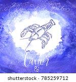 astrology sign cancer | Shutterstock .eps vector #785259712