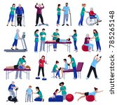 physiotherapy rehabilitation... | Shutterstock . vector #785265148