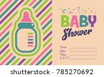 baby shower invite greeting... | Shutterstock .eps vector #785270692
