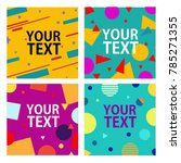 memphis style cards with...   Shutterstock .eps vector #785271355