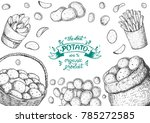potato vector illustration. box ... | Shutterstock .eps vector #785272585