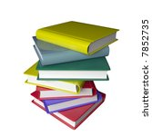 3d color books stacked on top... | Shutterstock . vector #7852735