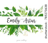 wedding invitation  save the... | Shutterstock .eps vector #785273638