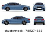 realistic car. sedan. front... | Shutterstock .eps vector #785274886