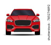 realistic suv car. front view | Shutterstock .eps vector #785274892