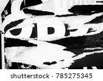 old grunge ripped torn vintage... | Shutterstock . vector #785275345