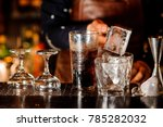 barman making a cocktail and... | Shutterstock . vector #785282032