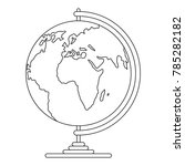 geography icon. outline... | Shutterstock .eps vector #785282182